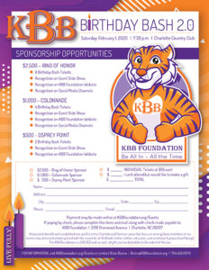 KBB Birthday Bash Sponsor Form